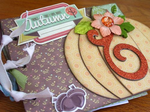 Chipboard Mini Albums Fall - Cover