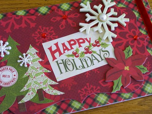 Chipboard mini albums - Happy Holidays album cover