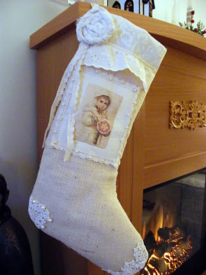 Vintage girl stocking