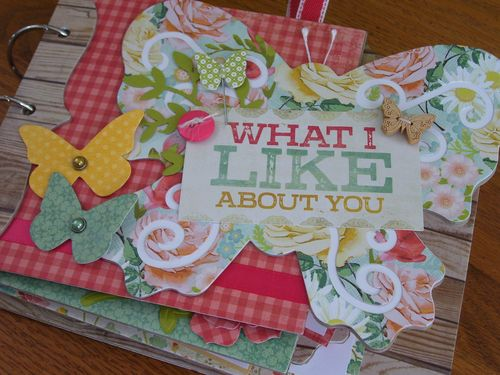 Chipboard mini albums - Butterfly album kit