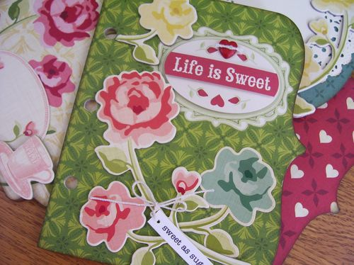 Chipboard mini albums - life is sweet cover2