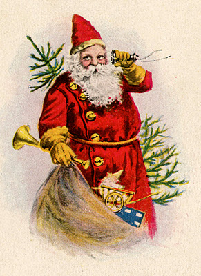 Christmas santa vintage image graphicsfairy003b