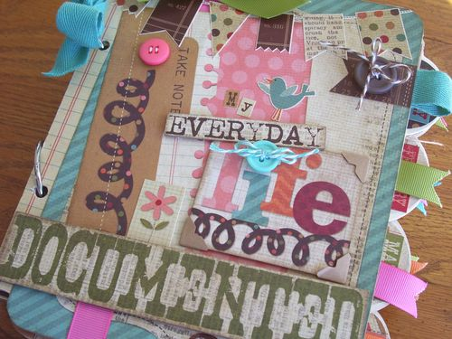 Chipboard mini albums - Life Documented cover