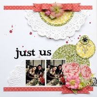 Chipboard mini albums - doily layout