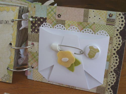 Chipboard mini albums - baby diaper pg