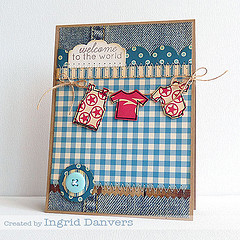 Chipboard mini albums - denim trend13