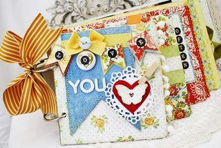 Chipboard mini albums - Melissa Phillips - smini album