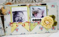 Chipboard mini albums - Melissa Phillips - elements on new pg