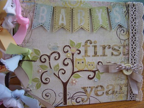 Chipboard mini albums - baby cover