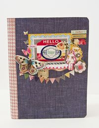 Chipboard mini albums - denim trend5