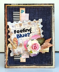 Chipboard mini albums - denim trend14