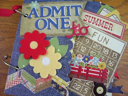 Chipboard Mini Albums - Admit One - Cover2