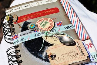 Chipboard mini albums - Zutter crazy mixed up mini 1