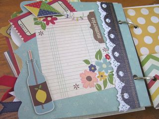 Chipboard Mini Albums - Admit One - lemonade pg