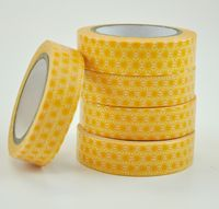 Chipboard mini albums - washi tape yellow starburst