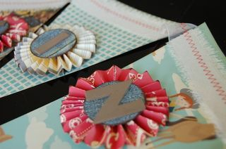 Chipboard mini albums - denim trend1