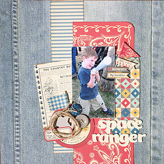 Chipboard mini albums - denim trend11