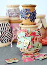 Chipboard mini albums - denim trend6