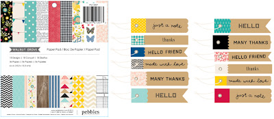 Chipboard mini albums - Pebbles - walnut grove3