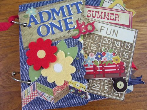 Chipboard Mini Albums - Admit One - Cover1