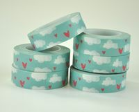 Chipboard mini albums - washi tape heart cloud