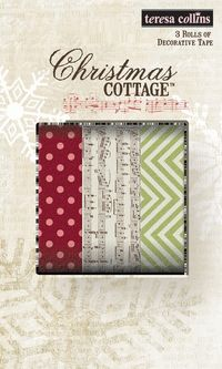 Chipboard mini albums - washi tape Christmas cottage