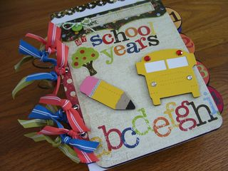 Chipboard Mini Albums - School Years Cover
