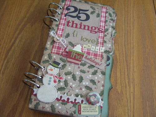 Chipboard Mini Albums - Christmas Countdown cover