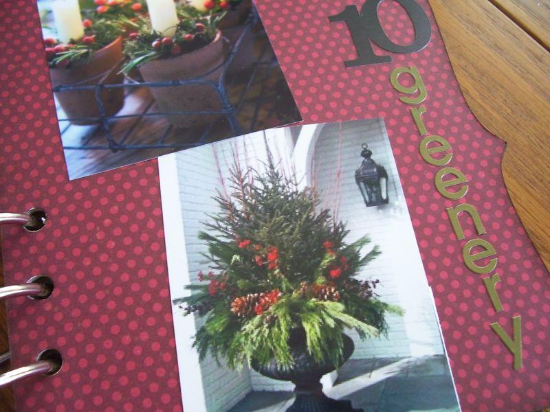 Chipboard Mini Albums - Christmas Countdown Christmas greenery pg
