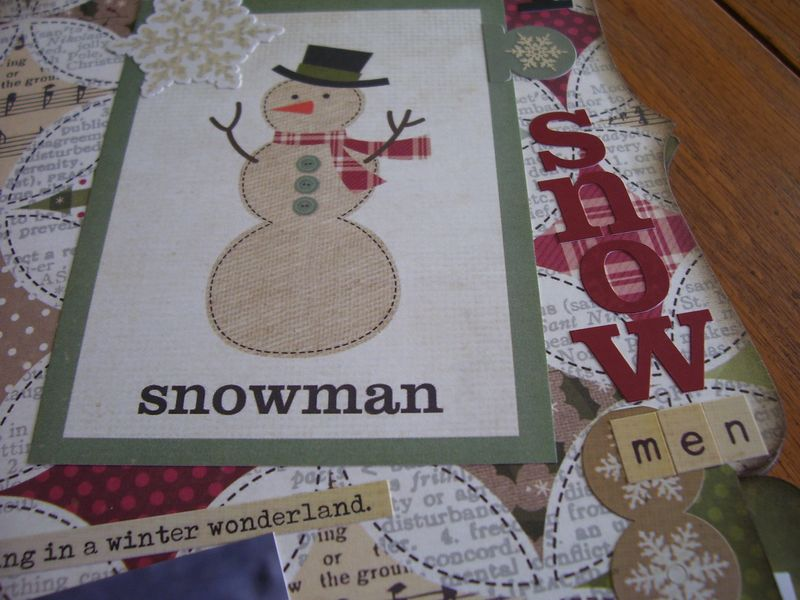 Chipboard Mini Albums - Christmas Countdown snowmen pg