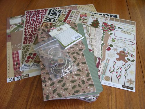 Chipboard Mini Albums - Christmas Countdown kit contents