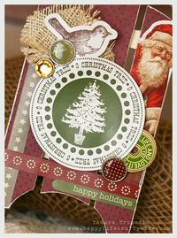 Chipboard mini albums - Crafty Wife Xmas projects - sled closeup
