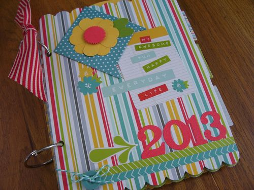 Chipboard Mini albums - MEL2013 kit album front