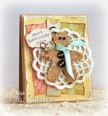 Chipboard mini albums - Amy Sheffer's gingerbread man card