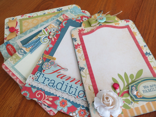 Chipboard Mini Albums - Family Traditions pg spread
