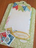 Chipboard Mini Albums - Family Traditions together flag pg
