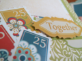 Chipboard Mini Albums - Family Traditions together stamps closeup