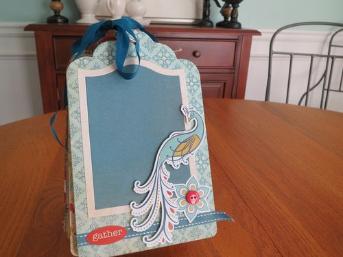 Chipboard Mini Albums - Family Traditions standing album 1