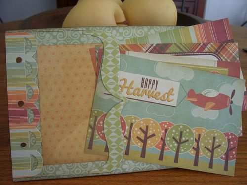 Chipboard Mini Albums Fall back page w cards1
