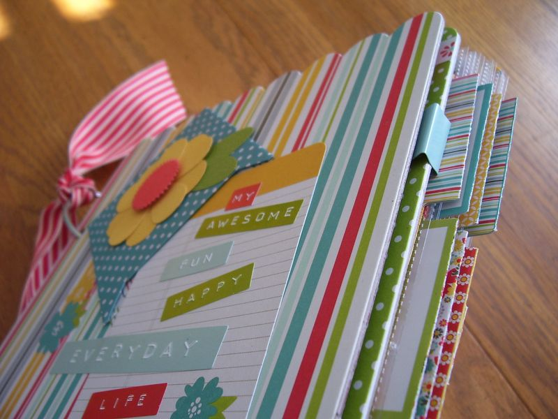 Chipboard mini albums - MEL2013 kit album tabs