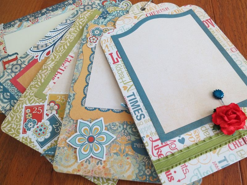 Chipboard Mini Albums - Family Traditions pg spread 2