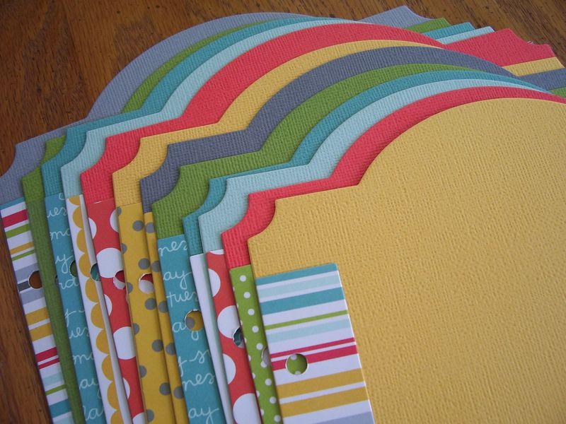 Chipboard mini albums - MEL2013 kit cardstock month divider pgs