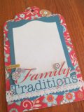 Chipboard Mini Albums - Family Traditions Family Traditions pg