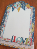 Chipboard Mini Albums - Family Traditions LOVE pg